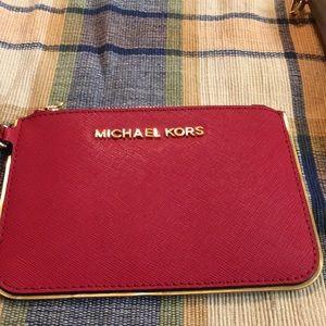 Red Micheal Kors wristlet
